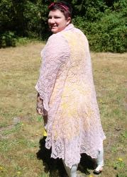 Full length on my wedding shawl!