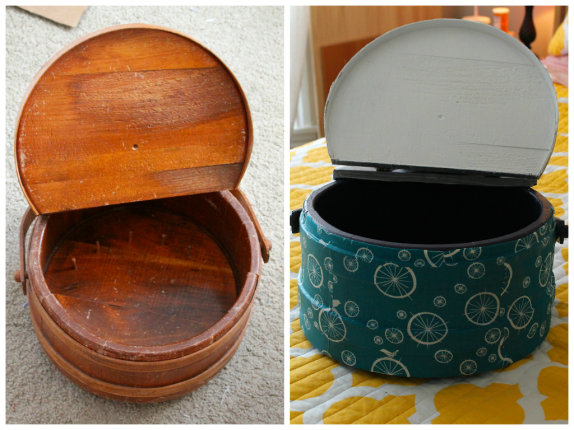 Sewing Box Before and After