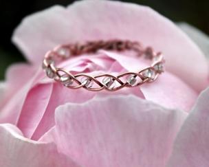 Copper Bead Braid Ring 1