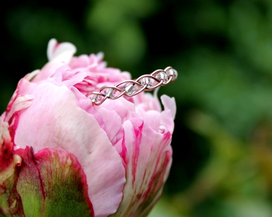 Copper Bead Braid Ring