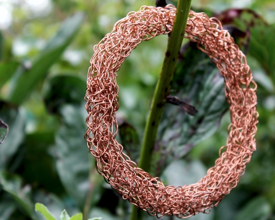 Copper Knit Bracelet 1